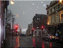 TQ3370 : Upper Norwood: hailstorm on Westow Street by Christopher Hilton