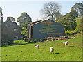 SO3123 : Poem on the barn at Three Wells by Trevor Rickard