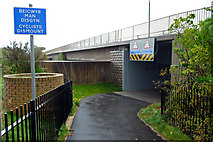 SH7877 : Cyclists dismount: underpass beneath Conwy Road, Llandudno Junction by Phil Champion