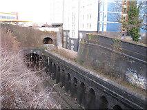 SP0686 : Railway cutting, Five Ways by Michael Westley