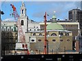 TQ3281 : St Stephen Walbrook, from the steps of Cannon Street station by Christopher Hilton