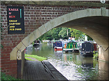SO9262 : Bridge and Hanbury Wharf, Worcestershire by Roger  Kidd