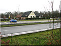 TM0292 : Breckland Lodge on the A11, Attleborough by Evelyn Simak