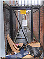 SJ3688 : Gated alley between Madryn Street and Powis Street, Toxteth by John S Turner