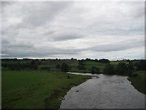 NY5537 : Bend on the river Eden near Great Salkeld, Cumbria by John Fielding