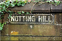 J3271 : Notting Hill sign, Belfast by Albert Bridge