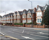 SO5140 : Houses at the western end of Aylestone Hill, Hereford by Jaggery