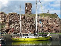 NT6779 : James Cook, training ship, moored by Dunbar Castle by Jennifer Petrie