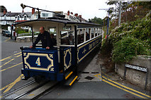 SH7782 : Great Orme Tramway - car number 4 at junction with Wyddfyd Road, Black Gate by Phil Champion