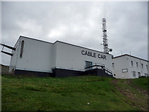 SH7683 : Great Orme Cable Car terminus by Phil Champion