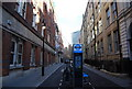 TQ3181 : Cycle hire, Bream's Buildings by N Chadwick