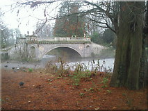 TQ2077 : Classic Bridge, Chiswick Park by Marathon
