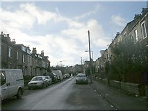 SE1734 : Sydenham Place - looking towards Otley Road by Betty Longbottom