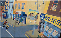 J3573 : Street scene mural, Belfast by Albert Bridge