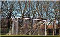 J3473 : Goalposts, Ormeau Park, Belfast by Albert Bridge