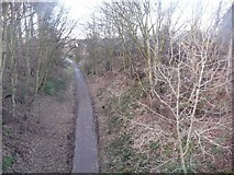 NT2273 : Cycleway below Ravelston Dyke by Christine Johnstone
