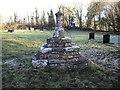 SS9774 : Churchyard cross, Llanfrynach by John Lord