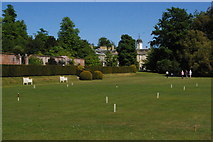 TQ1352 : Polesden Lacey: view from the west, across the croquet lawn by Christopher Hilton