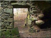 NS3578 : Kilmahew Castle - western entrance by Lairich Rig