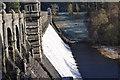SJ0119 : Lake Vyrnwy Dam overflowing by John Firth