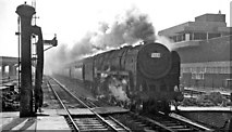 SP8633 : A Down Relief express entering Bletchley Station by Ben Brooksbank