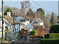 ST4492 : Looking from the church towards the pub, Llanfair Discoed by Ruth Sharville