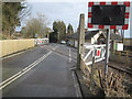 NZ1531 : Refurbished railway crossing at Witton-le-Wear. by peter robinson