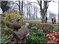J0458 : Bird carvings, Tannaghmore Gardens by Kenneth  Allen