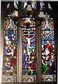 SJ2322 : St Michael the Archangel, Llanyblodwel - Stained glass window by John Salmon