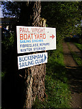 TG3504 : Signs near the Beauchamp Arms public house by Glen Denny