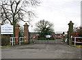 TM0396 : Entrance to St Luke's - the former Wayland Hospital by Evelyn Simak