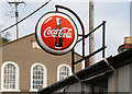 "J5252 : ""Coca-Cola"" sign, Killyleagh by Albert Bridge"