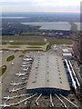 TQ0576 : Heathrow Terminal 5 from the air by Thomas Nugent