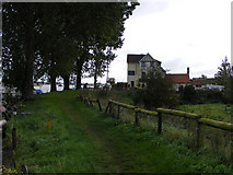 TG3504 : Wherryman's Way near the Beauchamp Arms public house by Glen Denny