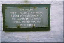 SW9980 : Building Plaque in Port Isaac by Trionon