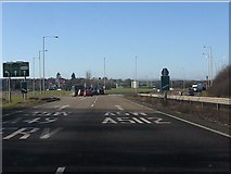 SJ4809 : Shrewsbury Ring Road approaching Bayston Hill roundabout by Peter Whatley