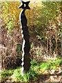 NN5823 : Millennium milepost, Lochearnhead by Richard Webb