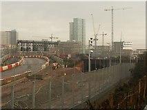 TQ3783 : Part of Olympic Park under construction by Derek Harper