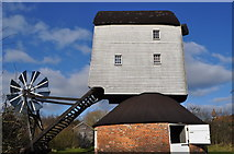 TM0080 : Garboldisham Post Mill - External View by Ashley Dace