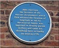 SE3917 : Blue plaque, John Harrison by Mike Kirby