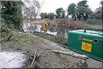 SU7451 : Clearance work on the Basingstoke Canal by Graham Horn