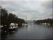 NS3882 : Entering Loch Lomond from Balloch by Ian S