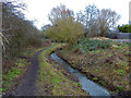 ST5670 : Public footpath along Colliter's Brook, Ashton Vale by Anthony O'Neil