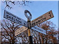 NY4640 : Signpost at Calthwaite crossroads by Hannah Bentley