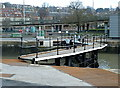 ST5672 : Balustraded walkway over the Entrance Lock at Bristol Harbour by Anthony O'Neil