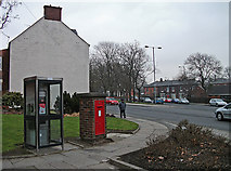 SJ9499 : Phone box and post box by michael ely