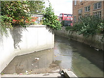 TQ3772 : Slipway on the River Ravensbourne by Franthorne Way, SE6 by Mike Quinn