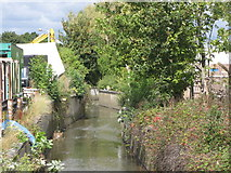 TQ3772 : The River Ravensbourne north of Franthorne Way, SE6 by Mike Quinn