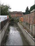 TQ3772 : The River Ravensbourne south of Orford Road, SE6 by Mike Quinn