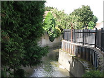 TQ3772 : The River Ravensbourne east of Waterbank Road, SE6 by Mike Quinn